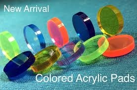 Colored or clear Acryl pads