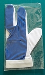 Budget handschoen Blauw/wit