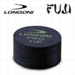 FUJI BLACK BILLIARD CUE TIP BY LONGONI per stuk