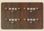 Standaard scorebord 4 players, big per stuk