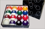 MARBLE SET BALLS 57,2 MM - US POOL BILLIARD BALLS per doosje